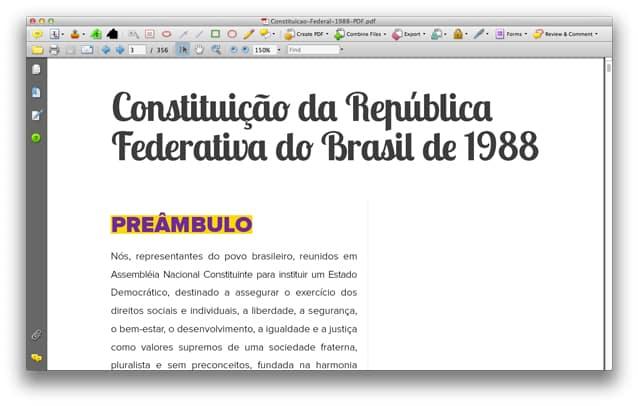 Início da Constituição