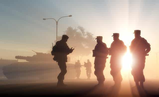 Exemplo de estrutura linear: exército